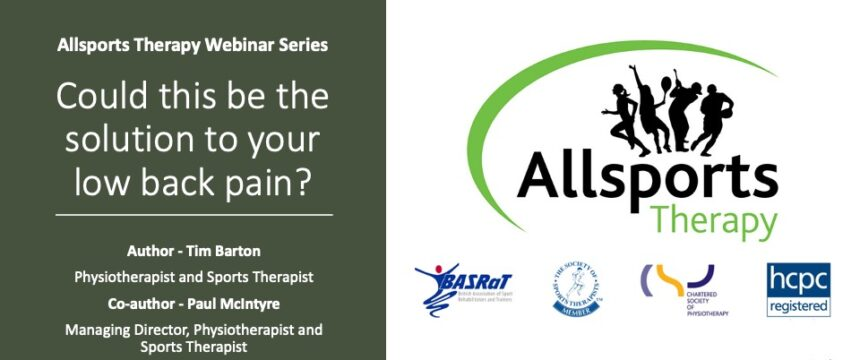 Low back pain webinar